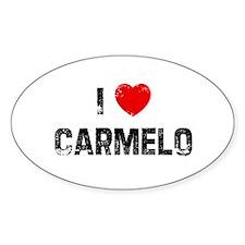 I * Carmelo Oval Decal
