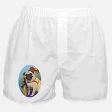 Pug in Wicker Chair Boxer Shorts