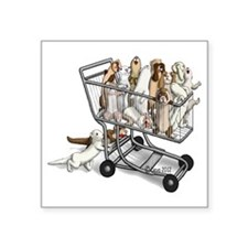 """Shopping with Ferrets Square Sticker 3"""" x 3"""""""