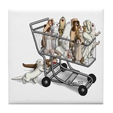 Shopping with Ferrets Tile Coaster