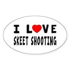 I Love Skeet Shooting Decal