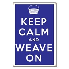 Keep Calm and Weave On Banner