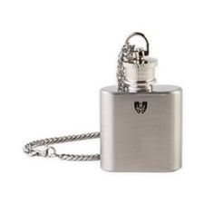 Keep Calm and Badger On Clear Flask Necklace