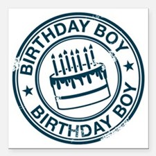 "Birthday Boy dark blue Square Car Magnet 3"" x 3"""