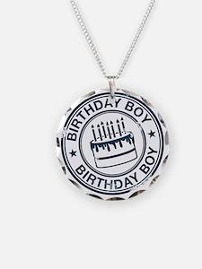 Birthday Boy dark blue Necklace
