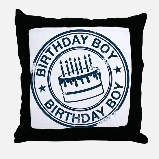 Birthday Boy dark blue Throw Pillow