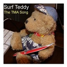 "TMA Song logo Square Car Magnet 3"" x 3"""