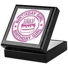 Birthday Girl Hot Pink Keepsake Box