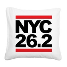 NYC 26.2 Square Canvas Pillow