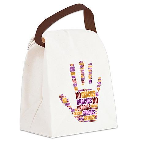 NO Gracias Canvas Lunch Bag