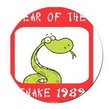 Year of The Snake 1989 Round Car Magnet