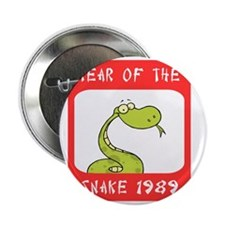 """Year of The Snake 1989 2.25"""" Button"""