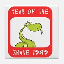 Year of The Snake 1989 Tile Coaster