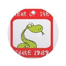Year of The Snake 1989 Round Ornament