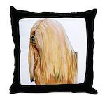Lhasa Apso Portrait Throw Pillow