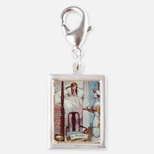 Princess and the Pea Silver Portrait Charm