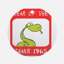 Year of The Snake 1965 Round Ornament