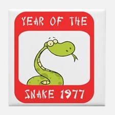 Year of The Snake 1977 Tile Coaster