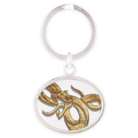 Year of The Snake 103 Oval Keychain