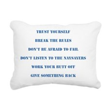 The Six Rules Of Life Rectangular Canvas Pillow