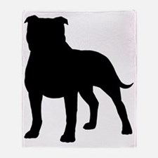 staffybizblk Throw Blanket