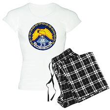 uss mount hood patch transp Pajamas