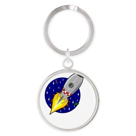 Love To The Moon Round Keychain