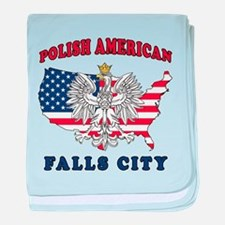 Falls City Texas Polish baby blanket