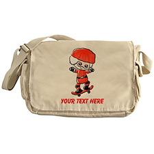 Skating Santa Messenger Bag