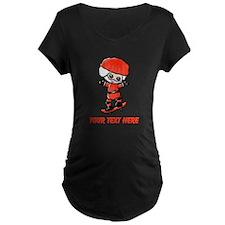 Skating Santa Maternity T-Shirt