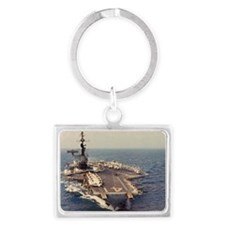 uss midway cva rectangle magnet Landscape Keychain