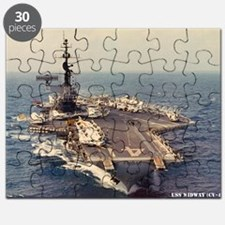 uss midway cv framed panel print Puzzle