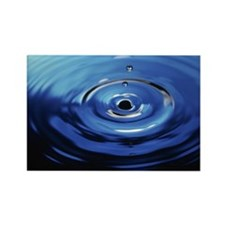 Ripples on water from droplet fal Rectangle Magnet