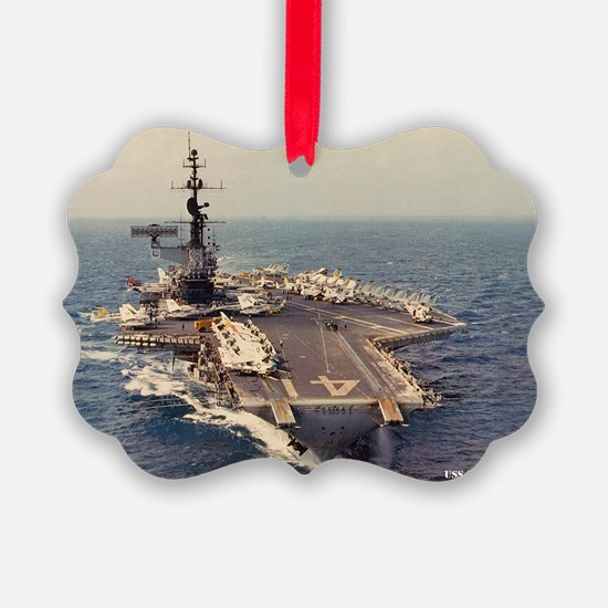 uss midway cva large framed print Ornament