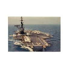 uss midway cva large framed print Rectangle Magnet