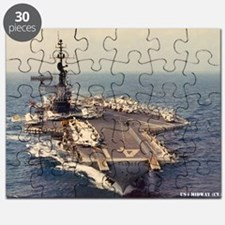 uss midway cva large framed print Puzzle