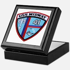 uss midway patch transparent Keepsake Box