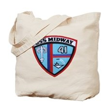 uss midway patch transparent Tote Bag