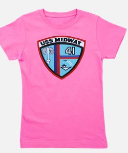 uss midway patch transparent Girl's Tee