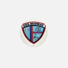 uss midway patch transparent Mini Button