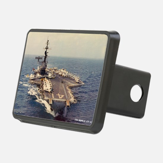 uss midway cv large framed Hitch Cover