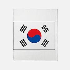South Korea Flag Throw Blanket