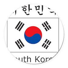 South Korea Flag Round Car Magnet