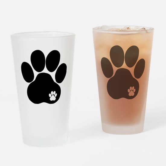 Double Paw Drinking Glass