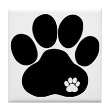 Double Paw Tile Coaster