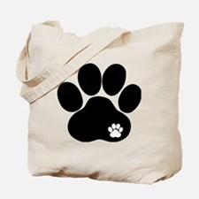 Double Paw Tote Bag