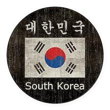 Vintage South Korea Round Car Magnet