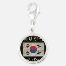 Vintage South Korea Silver Round Charm