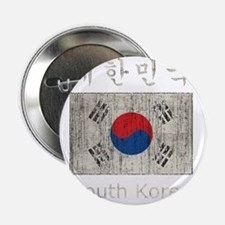 "Vintage South Korea 2.25"" Button"