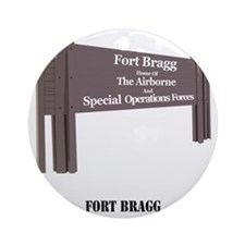 Fort Bragg Round Ornament